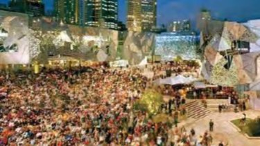 Big video screens for the outside of the Gabba are contained in a Queensland Government report  accidentally released this week.