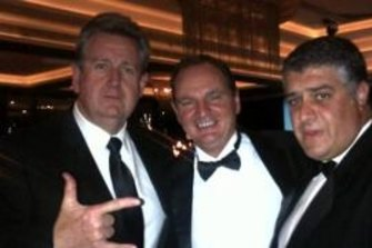 Pisasale in the now-famous photo with then-NSW premier Barry O'Farrell and Nick Di Girolamo.