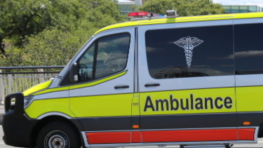 Paramedics rushed the man to hospital before he had to be airlifted.