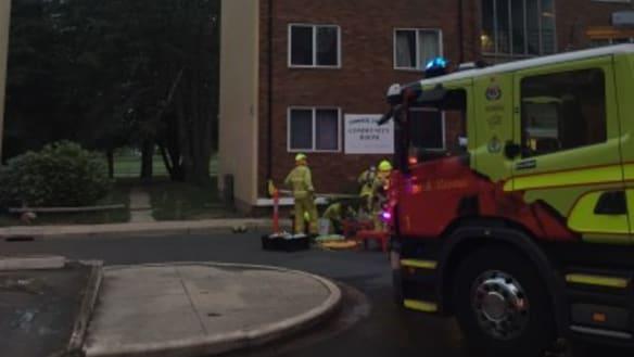Apartment fire in Narrabundah