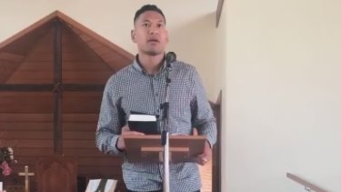 Israel Folau has linked the NSW bushfire and drought crises to legalising same-sex marriage and abortion.
