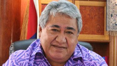 Samoan Prime MinisterTuilaepa Aiono Sailele Malielegaoi.