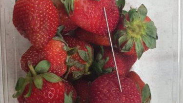 A thin metal object, possibly another needle, was found in a punnet in Gatton. It was treated as a copycat incident.