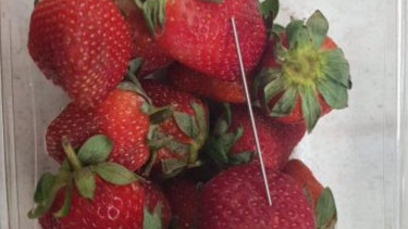 A thin metal object, possibly another needle, has been discovered in a punnet at Coles in Gatton, west of Brisbane.