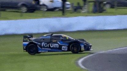 Forum's $500,000 car crash footage emerges as wealthy investors dodge bullet