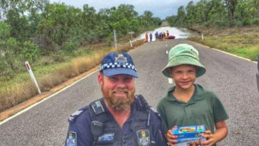 Police from Charters Towers in the Townsville District have been out and about over the past few weeks, assisting with the evacuation of stranded motorists and the re-supply of grazing property owners in the area.