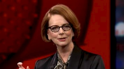 Julia Gillard revisits rivalry with Tony Abbott in Q+A appearance