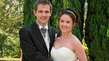 Tom and Jill Meagher on their wedding day.
