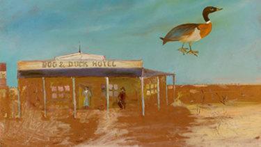 Dog & Duck Hotel by Sidney Nolan, 1948.