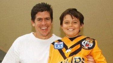 James Grant with son Jack.