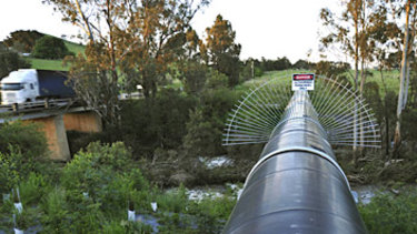 The north-south pipeline has not been used since 2010.