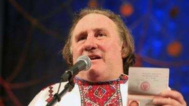 French film star Gerard Depardieu in Russia.