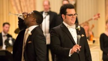Josh Gad (right) and Kevin Hart in <i>The Wedding Ringer</i>.