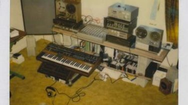 A polaroid of the room and the equipment on which Iva Davies wrote Great Southern Land.