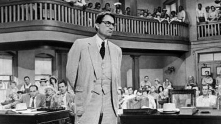 Gregory Peck as Atticus Finch in <i>To Kill a Mockingbird</i>.