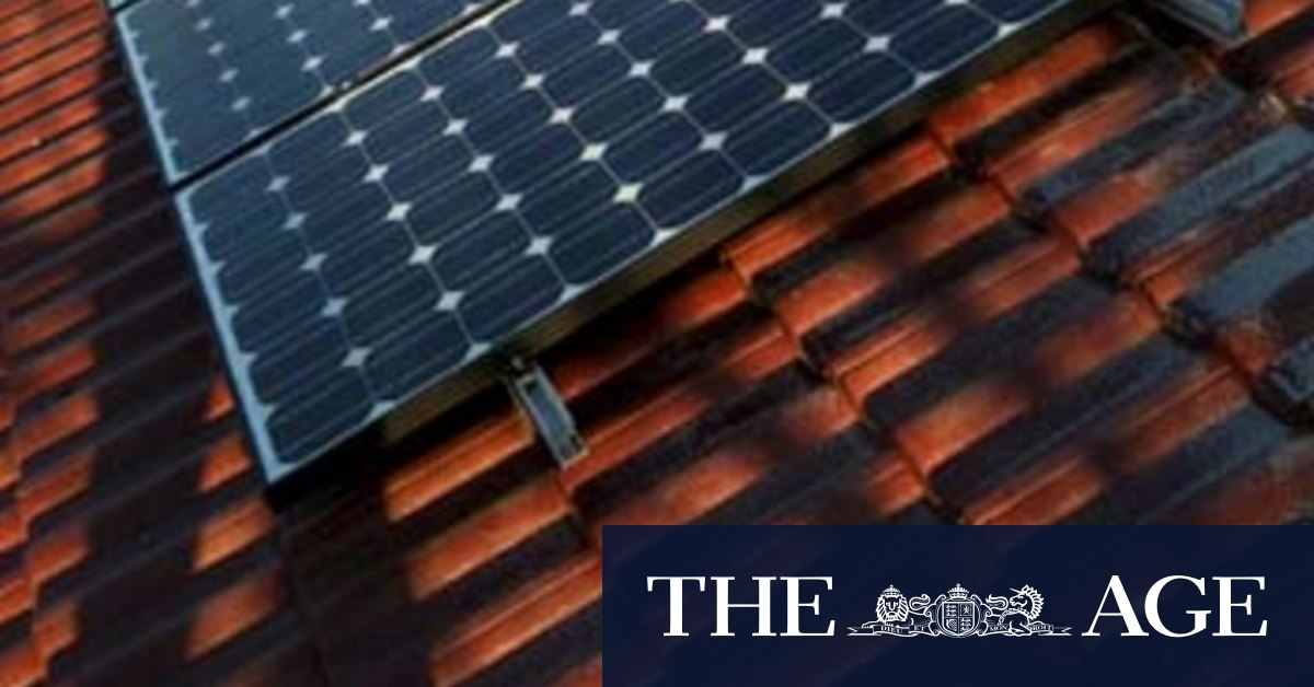 Victorian government to introduce interest free loans for new rooftop solar panels – The Age