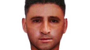 A computer-generated image of the man wanted over the campsite attack.