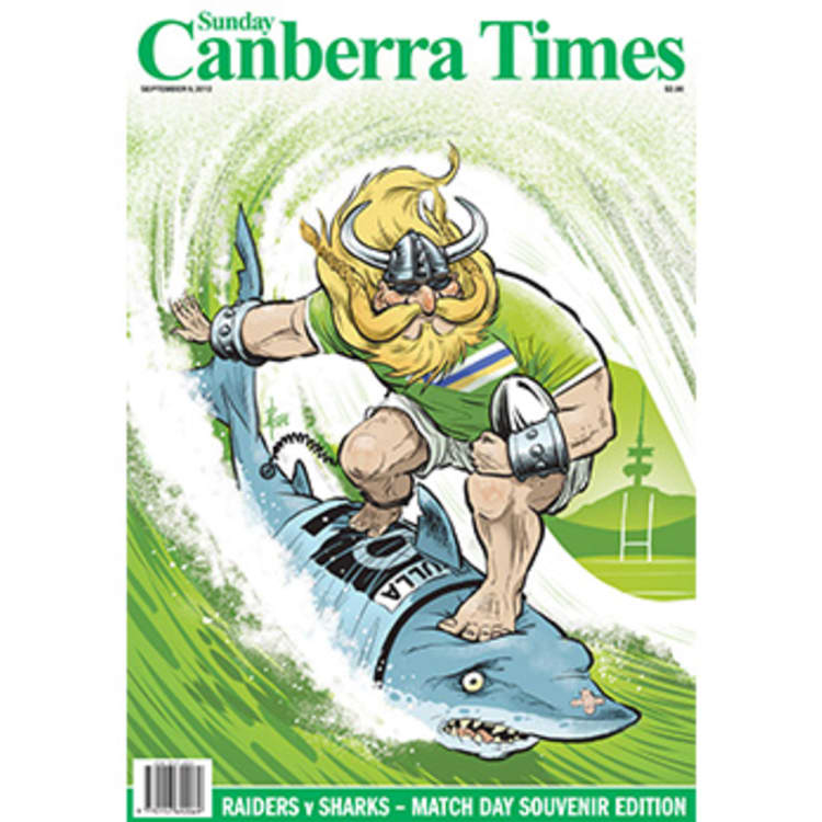 The Canberra Times front page illustration for September 10, 2012.