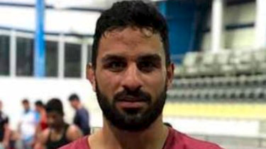 Greco-Roman wrestler Navid Afkari, who was executed in an Iranian prison.