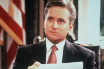 Michael Douglas, pictured, in the romantic comedy The American President.