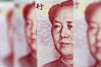 Mao Zedong's face on remnimbi notes.