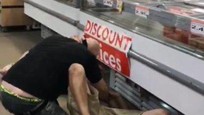 Video captures Spud Shed scrap between shoppers