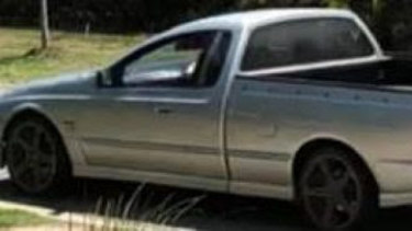 The silver Ford Falcon XR8 utility, which had no plates and might have been chased by a blue Commodore.