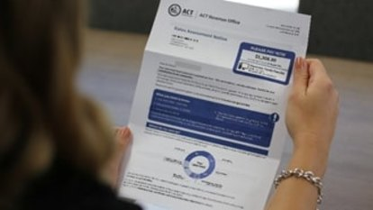 ACT government works to re-design 'confusing' rates assessment notices