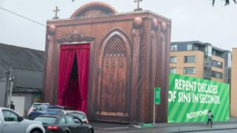 The drive-through confessional in Dublin.