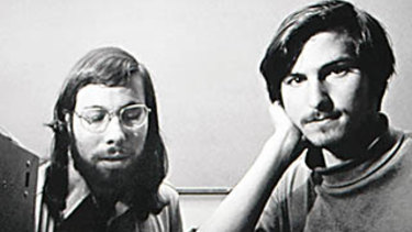 Steve Wozniak and Steve Jobs in 1976.