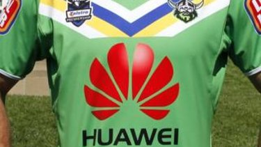 Huawei will await the government's decision before deciding on Raiders sponsorship.