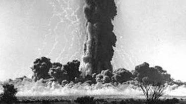 Maralinga nuclear test.