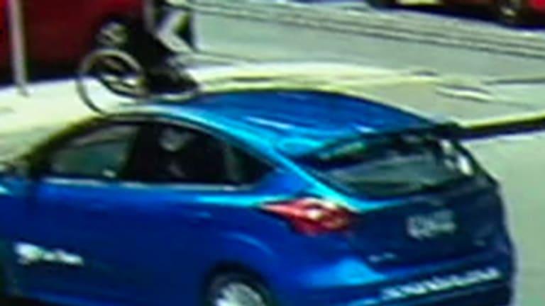 The moment the hit-run driver mows down a pedestrian in a wheelchair.