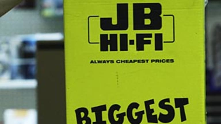 JB Hi-Fi were targeted in the robberies.