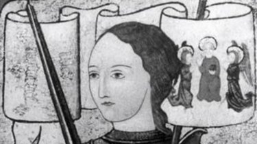 A drawing of Joan of Arc.