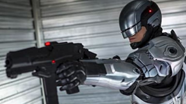Robocop, from the 1987 Hollywood movie.