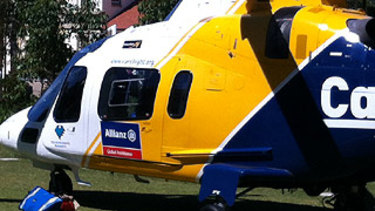 A CareFlight helicopter was sent to the area where the boy was pulled from the water.