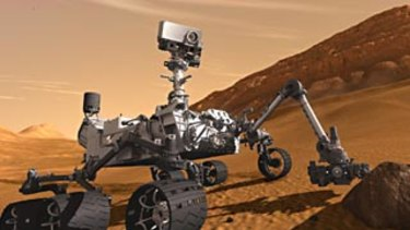 An artist's rendering provided by NASA/JPL-Caltech, the Mars Science Laboratory Curiosity rover.