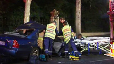 A motorcyclist died in the Hoddle Street crash.