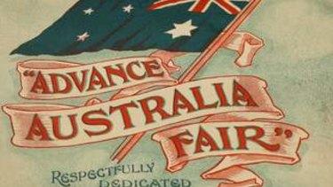 Advance Australia Fair.