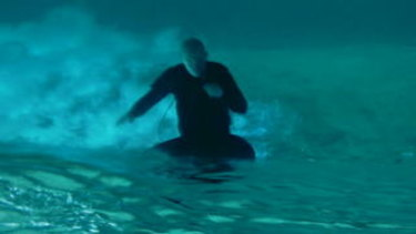 Still image from Shaun Gladwell's video work Pacific Undertow Sequence (Bondi).