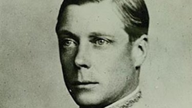 """We in Australia remember his visit with the happiest thoughts."" Edward VIII in an official portrait."