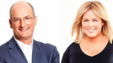 David Koch with fellow Sunrise host Samantha Armytage.