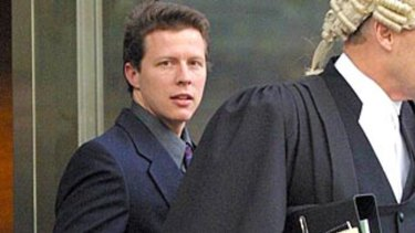 'Vampire gigolo' Shane Chartres-Abbott leaves the County Court in 2003, the year he was murdered.