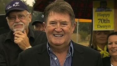 Derryn Hinch after walking free from jail.