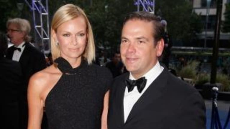 Lachlan Murdoch arrives with Sarah at the annual Keith Murdoch Oration at the State Library of Victoria.