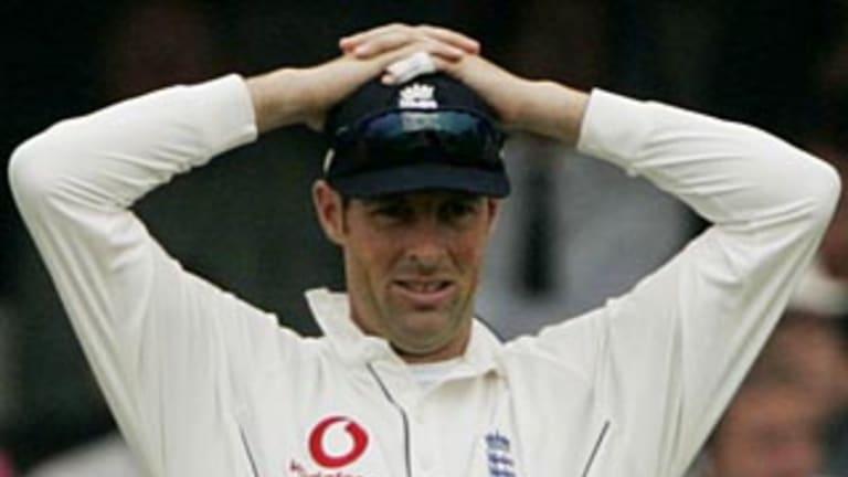 English cricketer Marcus Trescothick.