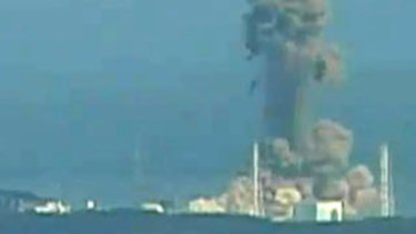 Hydrogen explosion at the Fukushima No. 1 nuclear power station number three reactor in 2011.