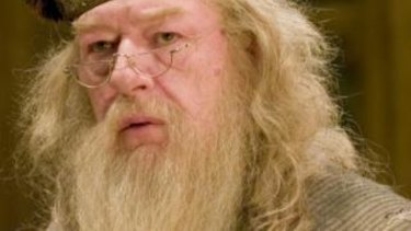 Michael Gambon as Professor Albus Dumbledore in the Harry Potter films.