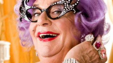"Top dollar:  The Dame Edna Everage ""discount"" for charity."